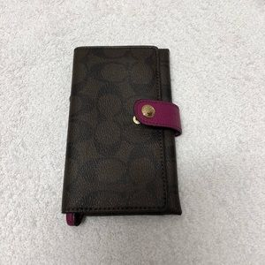 Coach wristlet, phone wallet